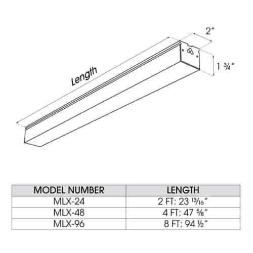 11MLX dimensions