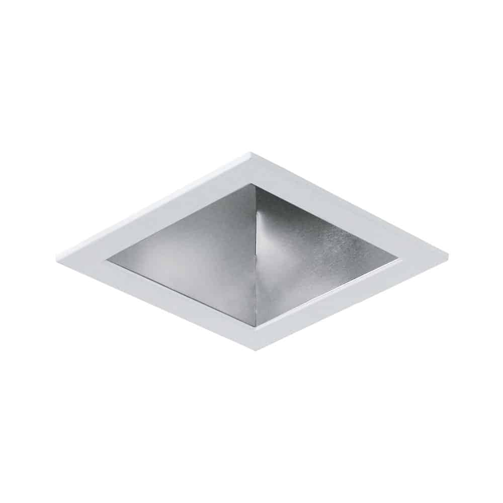 "RLT-6006-HZWH 5"" Square Haze Reflector with White Trim"
