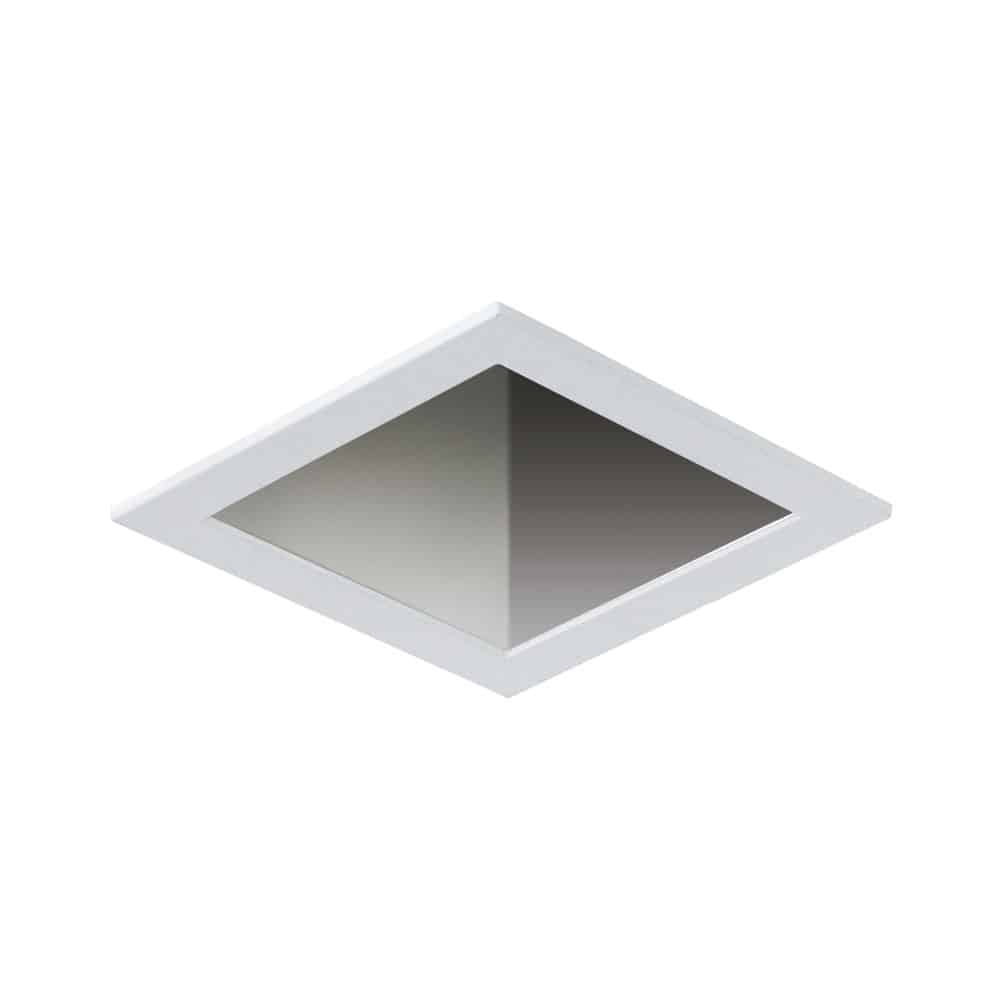 "RLT-6006-WHWH 5"" Square White Reflector with White Trim"