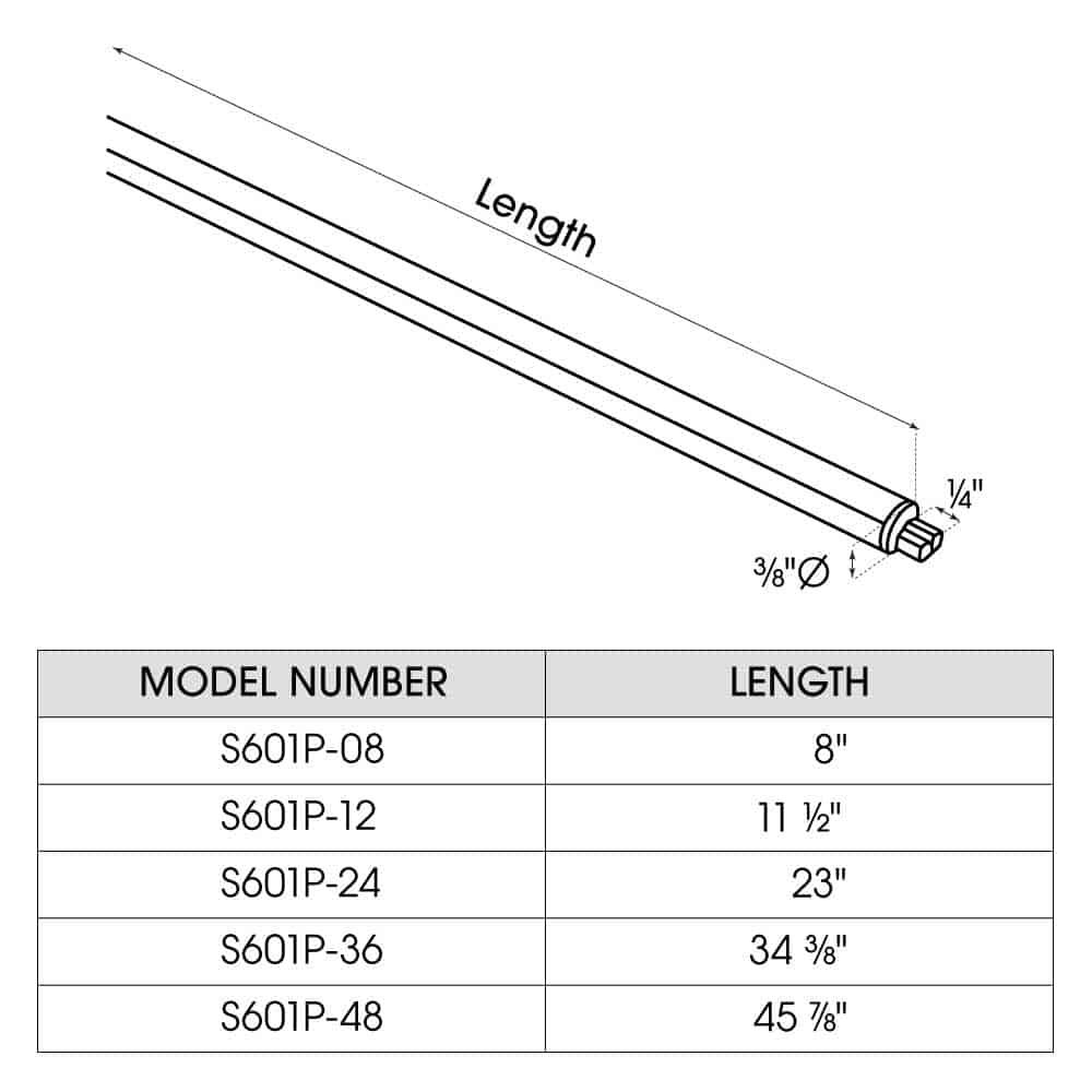 S601P dimensions