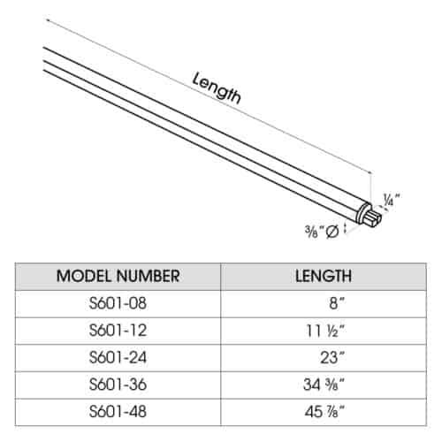 S601 dimensions