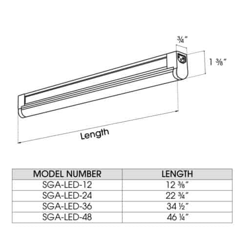 SGA-LED dimensions