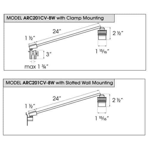 ARC201CV-8W dimensions