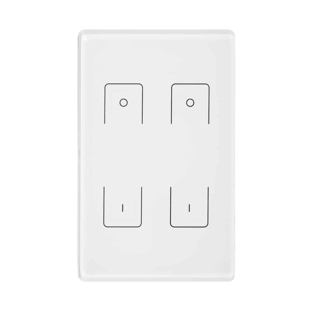 Dual Wall Mounted Radio Frequency Remote Control Dimmer LC-RF-402W-DIM