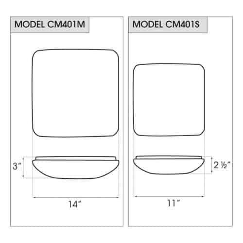 CM401 dimensions