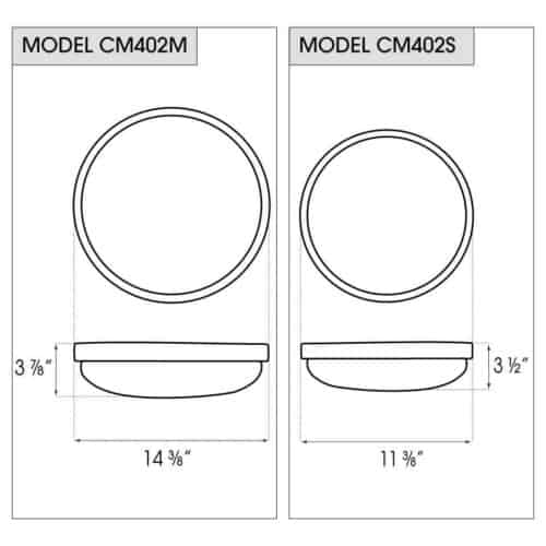 CM402 dimensions