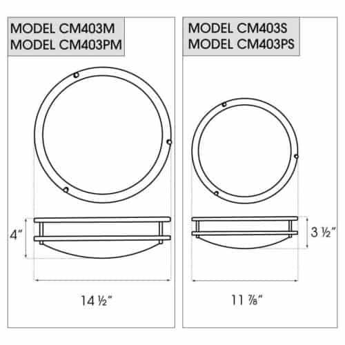 CM403P dimensions