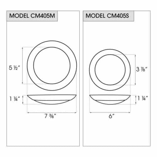 CM405 dimensions