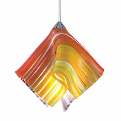 QAP705-RO Red & Yellow Handcrafted Lined Glass