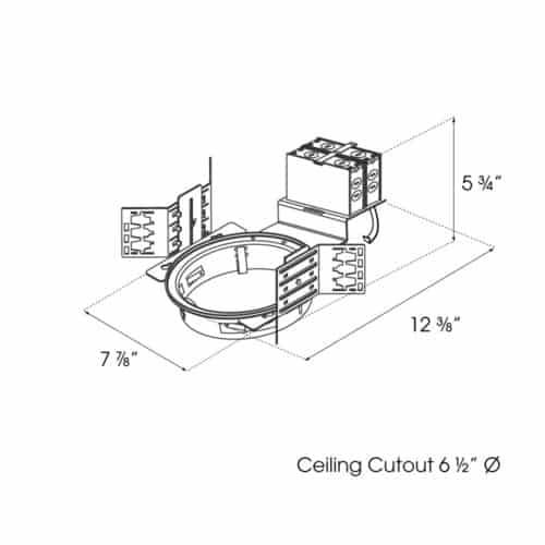 "6"" Architectural Downlight dimensions"