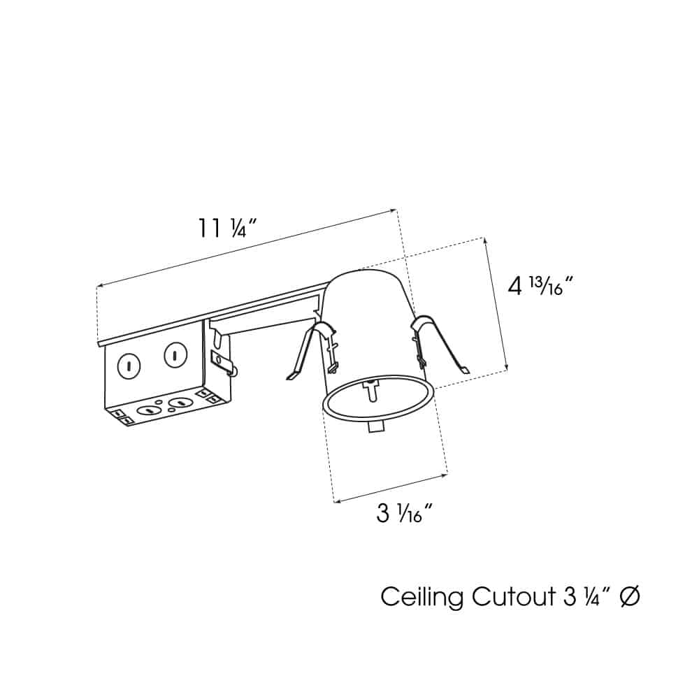 """3"""" Remodel Non-IC Housing dimensions"""