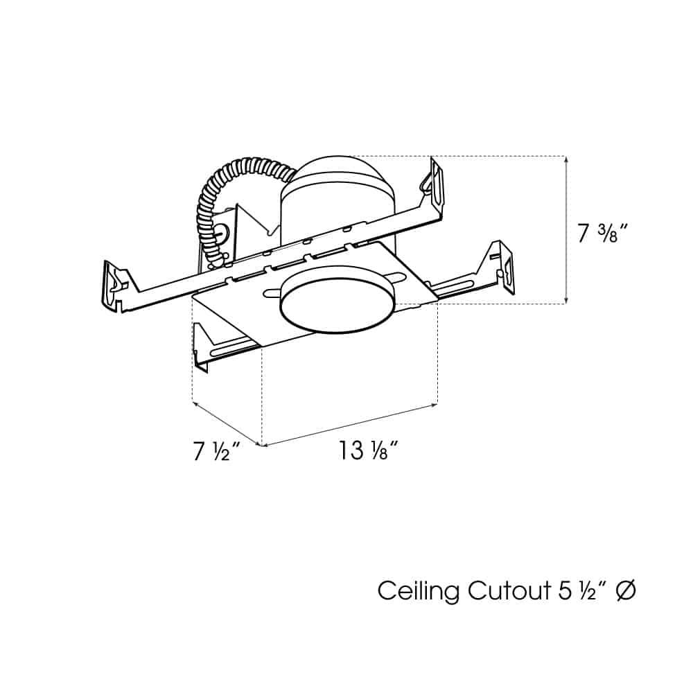 "5"" New Construction IC Airtight Housing dimensions"