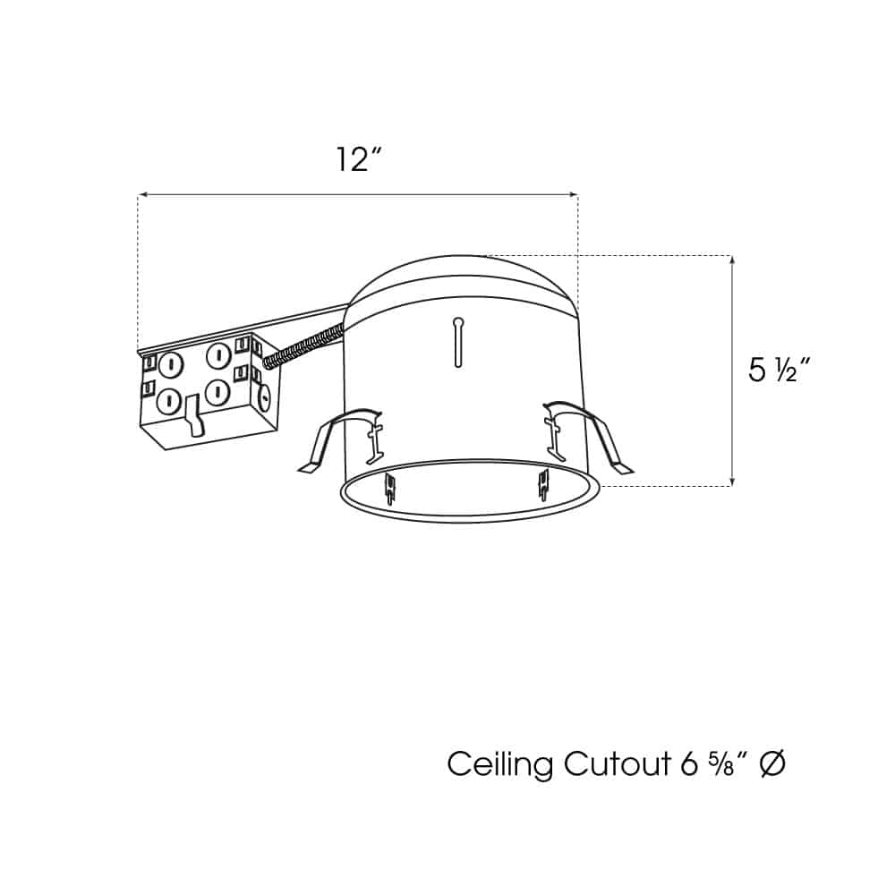 """6"""" Remodel Shallow Non-IC Housing dimensions"""
