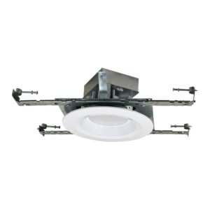 "6"" Residential AC LED Downlight with integral Junction Box New Construction"